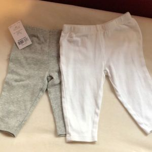 Carters 3 month Grey & 6 Month White Pants